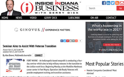 """Operation: Job Ready Veterans is in """"Inside Indiana business"""" with Gerry Dick"""