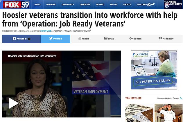 Ojrv's Veteran Employment Transition Seminar Making The News Again For The Positive Impact On Veteran Lives