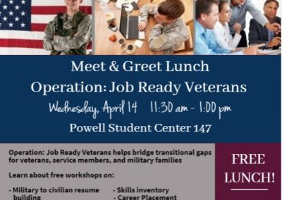 Meet & Greet Lunch at the Powell Student Center
